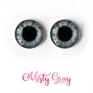 Misty Gray - Premium Adhesive Glass Irises for Infinity™ Doll Eyes