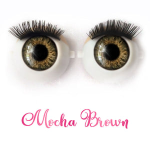 Mocha Brown - Premium Adhesive Glass Irises for Infinity™ Doll Eyes