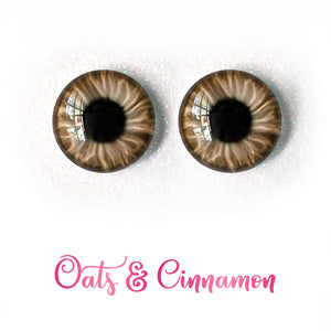 Oats & Cinnamon - Premium Adhesive Glass Irises for Infinity™ Doll Eyes