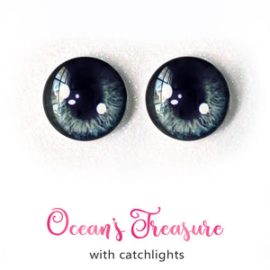Ocean's Treasure (Anime) - Premium Adhesive Glass Irises for Infinity™ Doll Eyes
