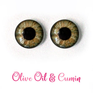 Olive Oil & Cumin - Premium Adhesive Glass Irises for Infinity™ Doll Eyes