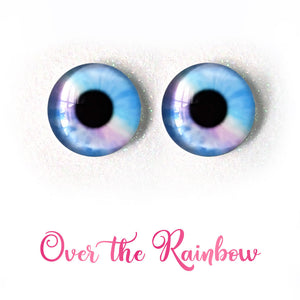 Over the Rainbow - Premium Classic Infinity™ Blinking Doll Eyes (Light Skin Eyelids, Black-Brown Eyelashes)