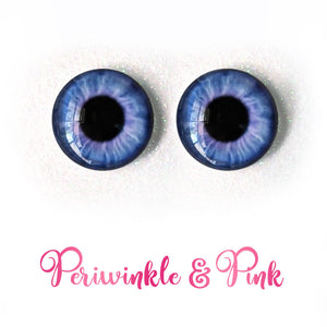 Periwinkle & Pink - Premium Adhesive Glass Irises for Infinity™ Doll Eyes