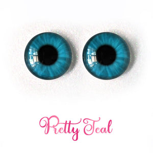 Pretty Teal - Premium Adhesive Glass Irises for Infinity™ Doll Eyes