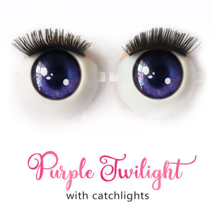 *IMPERFECT* Purple Twilight (Anime) - Premium Classic Infinity™ Blinking Doll Eyes