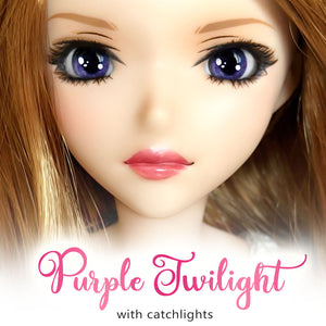*IMPERFECT* Purple Twilight (Anime) - Reflective BJD Eyes in SD Semi-Real Size (18mm Eye, 8mm Iris)