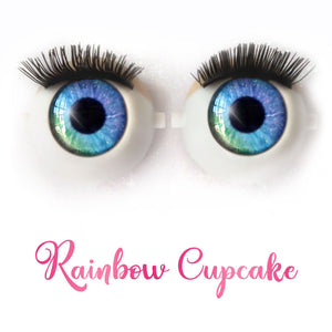 *IMPERFECT* Rainbow Cupcake - Premium Classic Infinity™ Blinking Doll Eyes