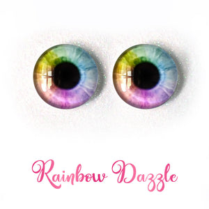 Rainbow Dazzle - Premium Adhesive Glass Irises for Infinity™ Doll Eyes