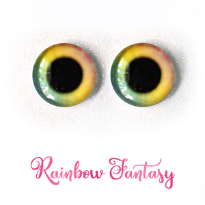 Rainbow Fantasy - Premium Adhesive Glass Irises for Infinity™ Doll Eyes
