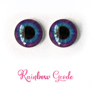 Rainbow Geode - Premium Adhesive Glass Irises for Infinity™ Doll Eyes