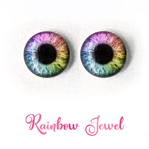 Rainbow Jewel - Premium Adhesive Glass Irises for Infinity™ Doll Eyes