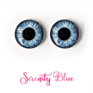 Serenity Blue - Premium Adhesive Glass Irises for Infinity™ Doll Eyes