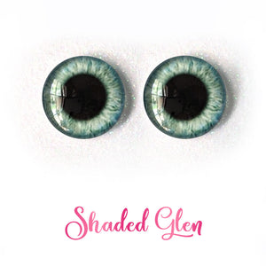 Shaded Glen - Premium Adhesive Glass Irises for Infinity™ Doll Eyes