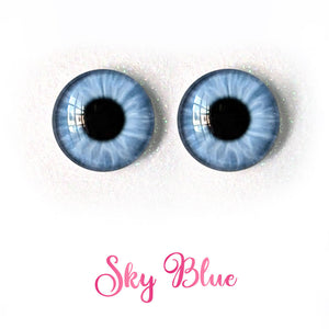 Sky Blue - Premium Adhesive Glass Irises for Infinity™ Doll Eyes