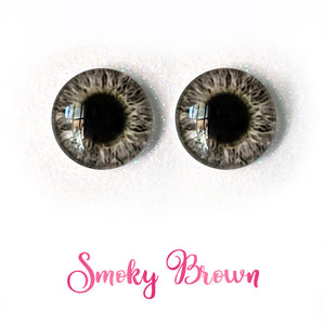 Smoky Brown - Premium Adhesive Glass Irises for Infinity™ Doll Eyes