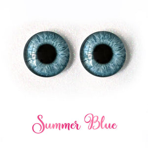 Summer Blue - Premium Adhesive Glass Irises for Infinity™ Doll Eyes