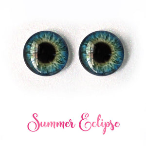 Summer Eclipse - Premium Adhesive Glass Irises for Infinity™ Doll Eyes