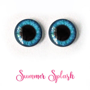 Summer Splash - Premium Adhesive Glass Irises for Infinity™ Doll Eyes