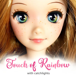 *IMPERFECT* Touch of Rainbow (Anime) - Reflective BJD Eyes in SD Half-Open Size (18mm Eye, 10mm Iris)