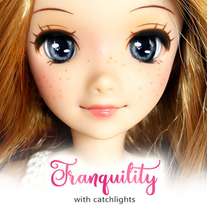 *IMPERFECT* Tranquility (Anime) - Reflective BJD Eyes in SD Half-Open Size (18mm Eye, 10mm Iris)