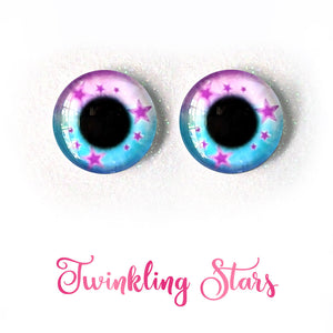 Twinkling Stars - Premium Classic Infinity™ Blinking Doll Eyes (Light Skin Eyelids, Black-Brown Eyelashes)