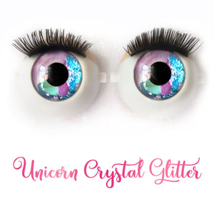 Unicorn Crystal Glitter - Premium Classic Infinity™ Blinking Doll Eyes (Light Skin Eyelids, Black-Brown Eyelashes)