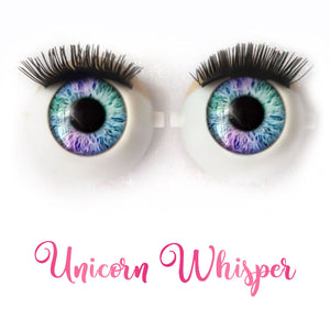 Unicorn Whisper - Premium Classic Infinity™ Blinking Doll Eyes (Light Skin Eyelids, Black-Brown Eyelashes)
