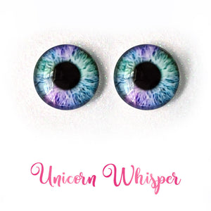 Unicorn Whisper - Premium Adhesive Glass Irises for Infinity™ Doll Eyes