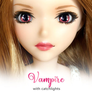 Vampire (Anime) - Reflective BJD Eyes in SD Semi-Real Size (18mm Eye, 8mm Iris)