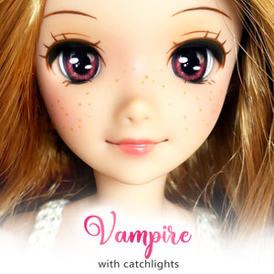*IMPERFECT* Vampire (Anime) - Reflective BJD Eyes in SD Half-Open Size (18mm Eye, 10mm Iris)