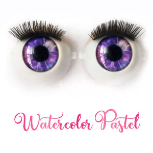 *IMPERFECT* Watercolor Pastel - Premium Classic Infinity™ Blinking Doll Eyes