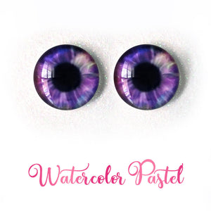 Watercolor Pastel - Premium Adhesive Glass Irises for Infinity™ Doll Eyes