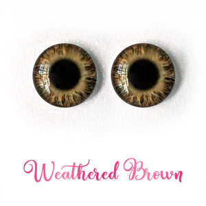 Weathered Brown - Premium Adhesive Glass Irises for Infinity™ Doll Eyes