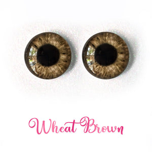 Wheat Brown - Premium Adhesive Glass Irises for Infinity™ Doll Eyes