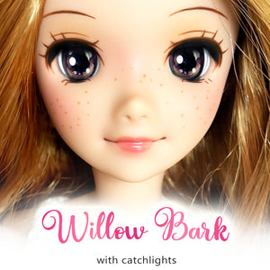 *IMPERFECT* Willow Bark (Anime) - Reflective BJD Eyes in SD Half-Open Size (18mm Eye, 10mm Iris)