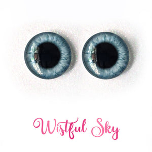 Wistful Sky - Premium Adhesive Glass Irises for Infinity™ Doll Eyes