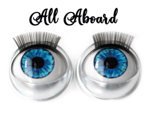 All Aboard - Standard Co-op Open/Close Doll Eyes (Very Pale Eyelids)