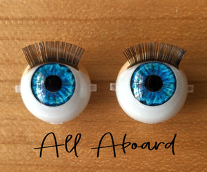 All Aboard - Standard Blinking Doll Eyes (Very Pale Eyelids)