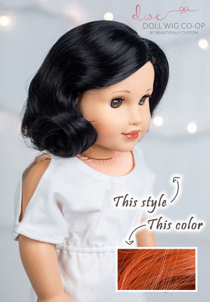 PREORDER: Autumn Apple - Vintage 1940's Nancy Style Co-op Wig (Size 11)