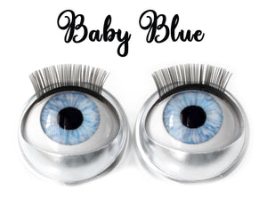 Baby Blue - Standard Co-op Open/Close Doll Eyes (Very Pale Eyelids)