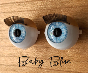 Baby Blue - Standard Blinking Doll Eyes (Very Pale Eyelids)