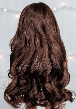 Beautiful Brown - Limited Edition *Slightly Textured* Deluxe Princess Wig (Size 11)