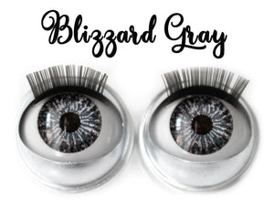 Blizzard Gray - Standard Co-op Open/Close Doll Eyes (Light Tan Eyelids)