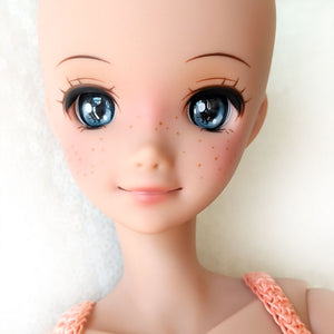 Castle Gray - Premium BJD Eyes in SD Half-Open Size (18mm Eye, 10mm Iris)