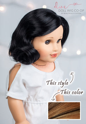 PREORDER: Chocolate Toffee - Vintage 1940's Nancy Style Co-op Wig (Size 11)