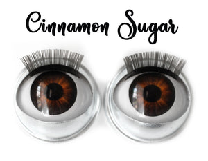 Cinnamon Sugar - Standard Co-op Open/Close Doll Eyes (Light Tan Eyelids)