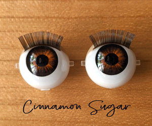 Cinnamon Sugar - Standard Blinking Doll Eyes (Light Tan Eyelids)