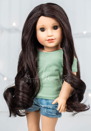 Dark Chocolate - Limited Edition *Slightly Textured* Deluxe Paradise Wig (Size 11)