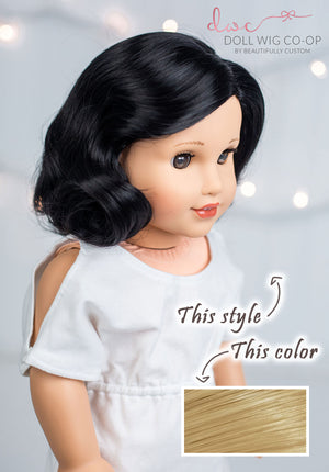 PREORDER: Delicate Blonde - Vintage 1940's Nancy Style Co-op Wig (Size 11)