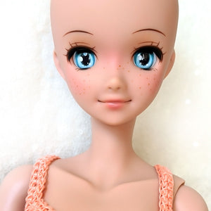 Dewdrop Blue - Premium BJD Eyes in SD Half-Open Size (18mm Eye, 10mm Iris)